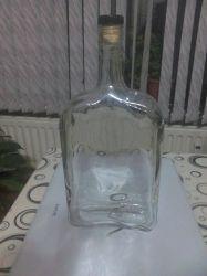 Плоска бутилка 1000мл.-комплект с тапа