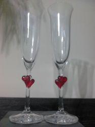 """Ритуални чаши""""Червени сърца"""""""