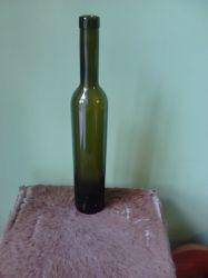 Бутилка издължена-кафяво стъкло