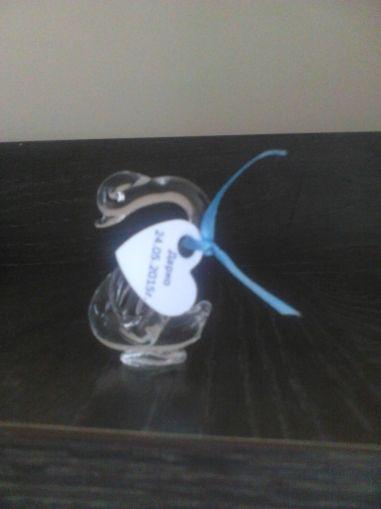 Стъклено лебедче с украса