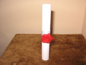 Покана свитък с розичка-мин.количество 10 бр.