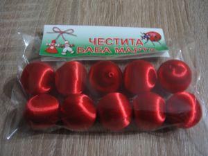Копринени топчета-червени-мин.количество 10 бр.-1 пакет