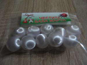 Копринени топчета-бели-мин.количество 10 бр.-1 пакет