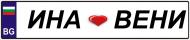 Сватбени табели за автомобил правоъгълни от ПВЦ , с дизайн по избор.