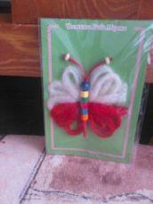 Пеперудка от вълна-мин.кол.10 бр.