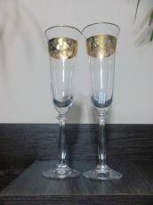 Ритуални чаши със златен кант-комплект от 2 бр.