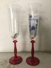 Ритуални чаши сърца 2 с червено столче
