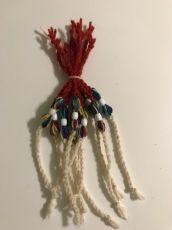Вълнена гривна с цветен пъшкул  - 10 бр.