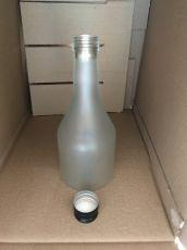 Стъклена бутилка МЕТЕОРА матирана